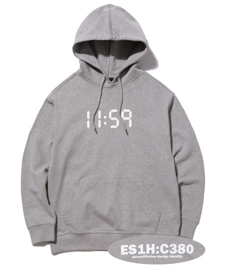 C380 OVER FIT HOOD (GREY) [EHD001H13MG]