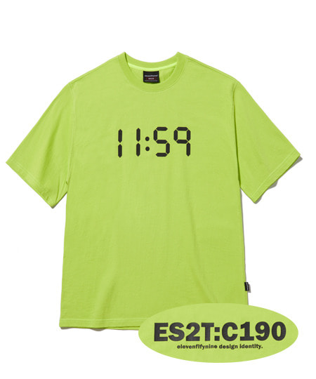 BASIC REGULAR FIT T-SHIRTS (LIME) [ETS020H23LI]