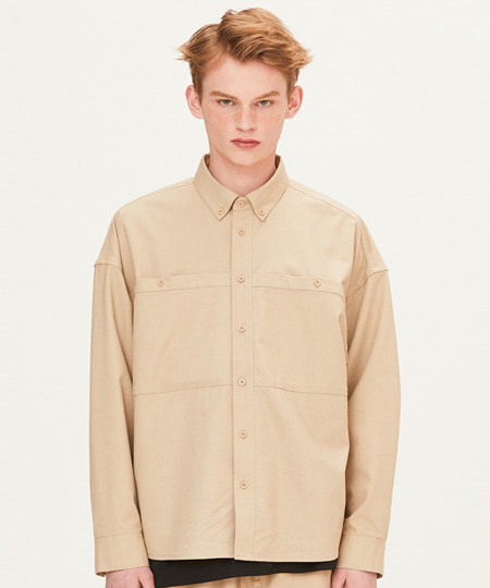 OUT POCKET SHIRTS (BEIGE) [FSH002H13BE]