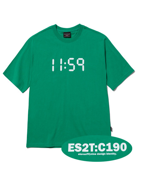 BASIC REGULAR FIT T-SHIRTS (GREEN) [ETS020H23GR]
