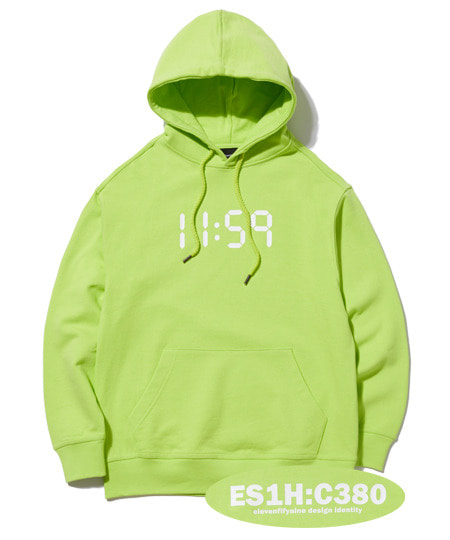 C380 OVER FIT HOOD (LIME) [EHD001H13LI]