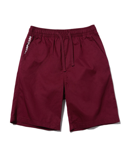 BASIC HALF PANTS (WINE) [ESP001H23WI]