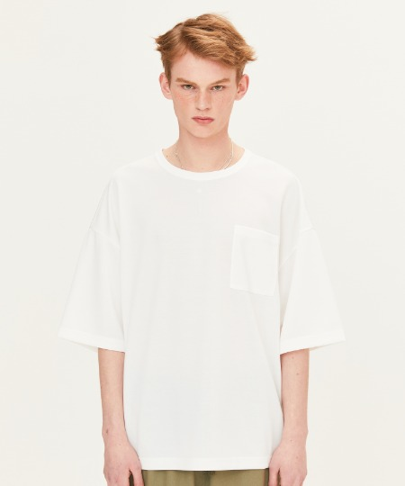POLY WAFFLE CHEST POCKET T-SHIRTS (WHITE) [FTS002H23WH]