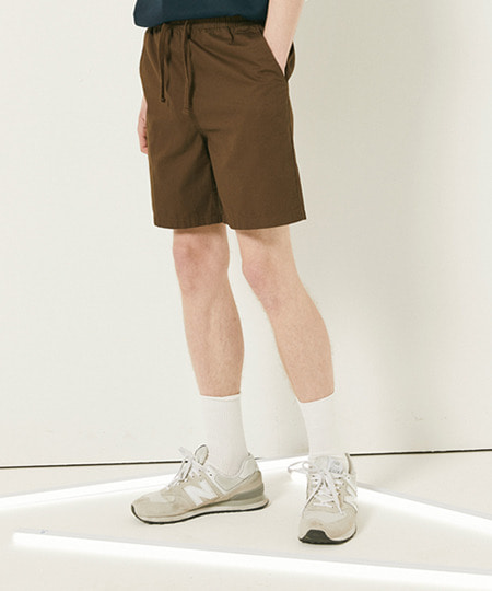 30'S TWILL EBAND HALF PANTS (BROWN) [FSP002H23BR]