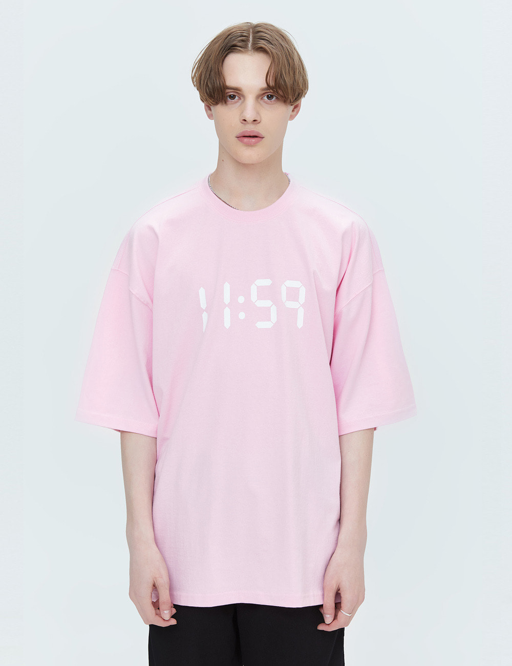 BASIC OVER FIT T-SHIRTS (LIGHT PINK) [ETS001H23LP]