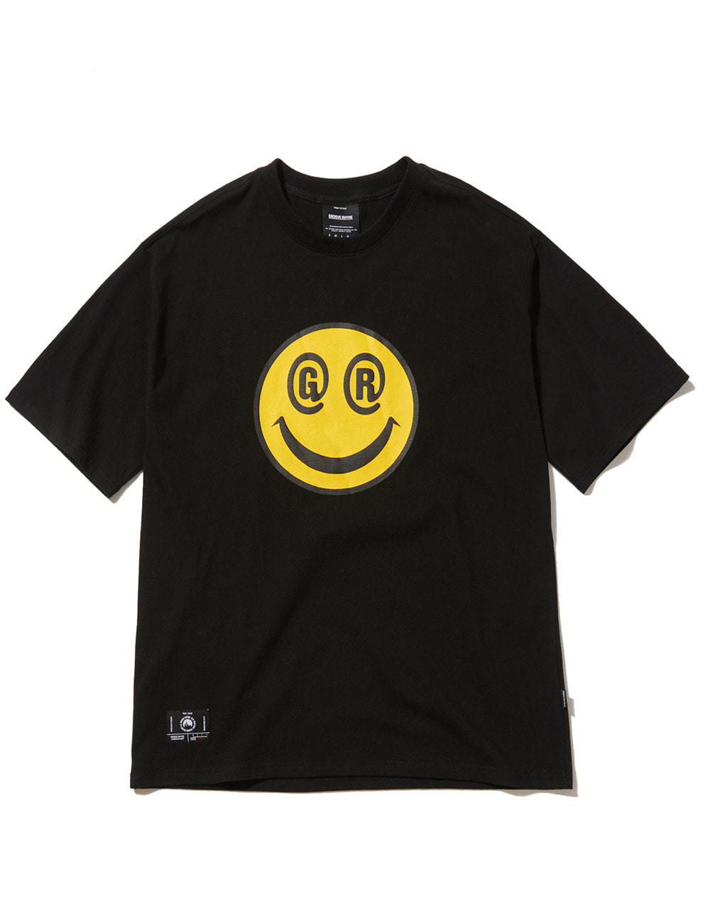 BIG SMILE LOGO OVER FIT T-SHIRTS (BLACK) [GTS051H23BK]