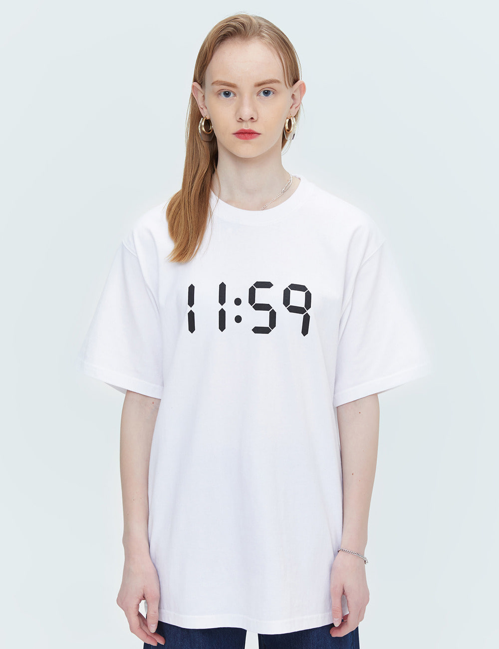 BASIC OVER FIT T-SHIRTS (WHITE) [ETS001H23WH]