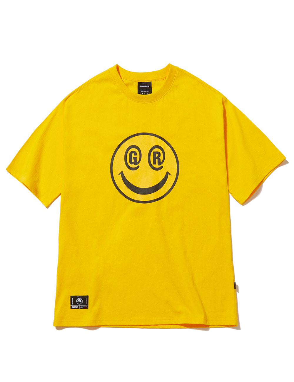 BIG SMILE LOGO OVER FIT T-SHIRTS (YELLOW) [GTS051H23YE]