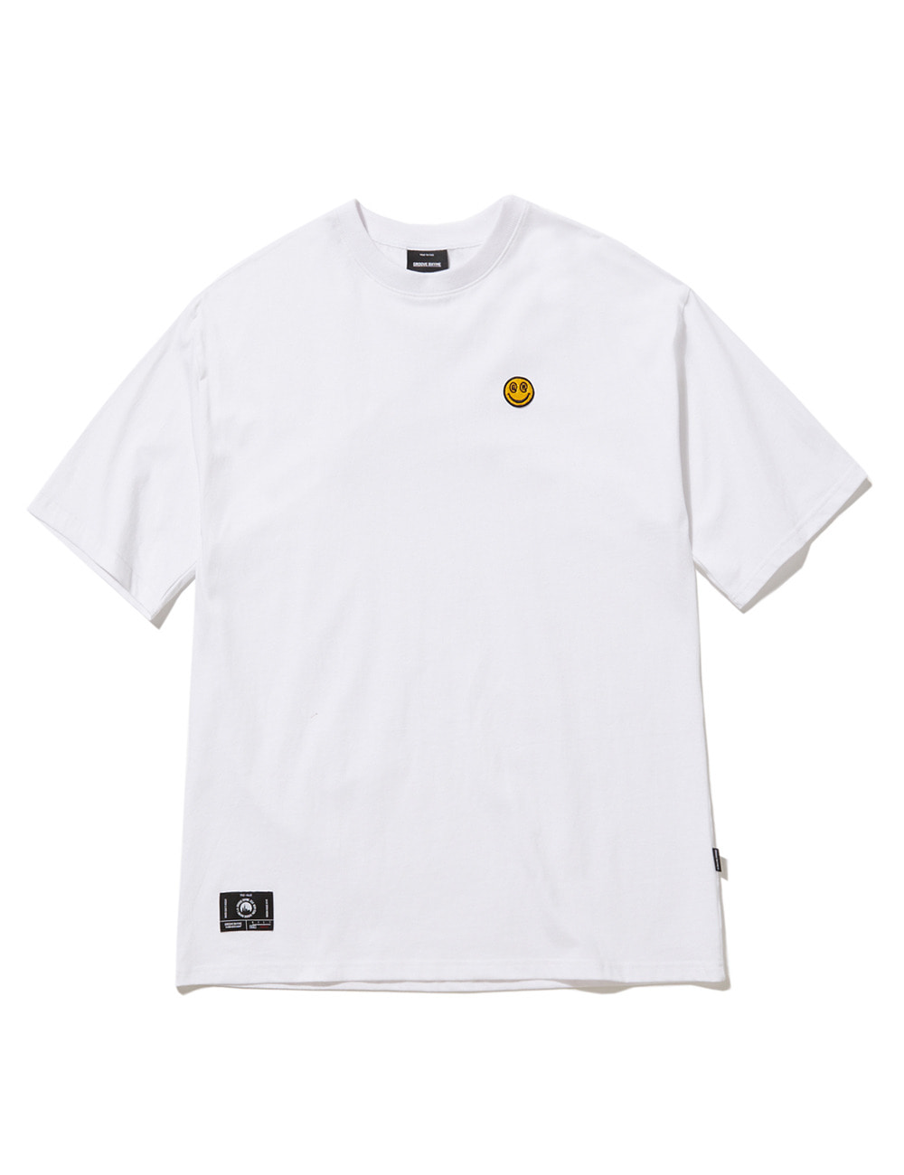SMALL SMILE LOGO OVER FIT T-SHIRTS (WHITE) [GTS050H23WH]