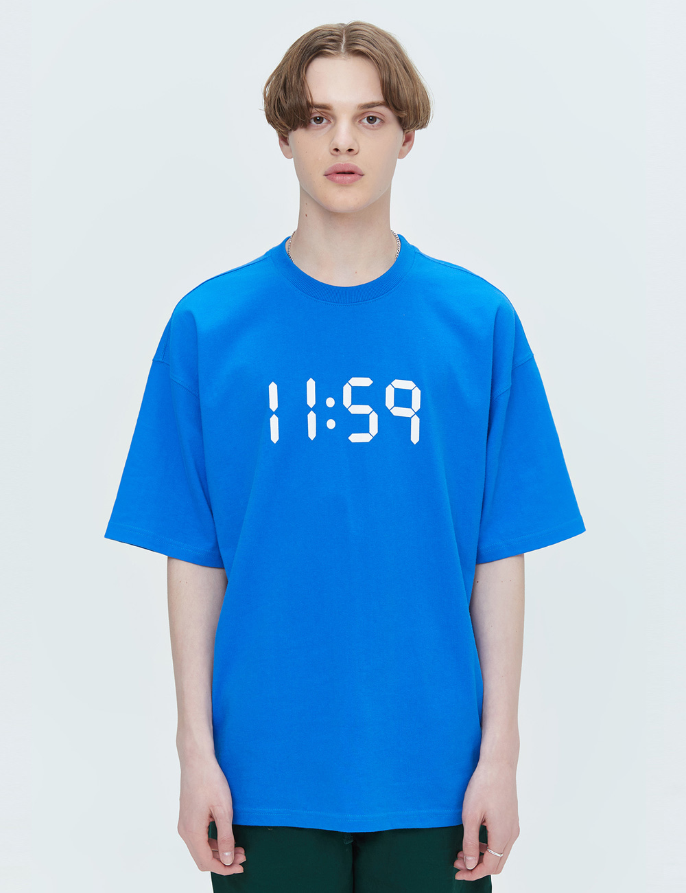 BASIC OVER FIT T-SHIRTS (BLUE) [ETS001H23BL]