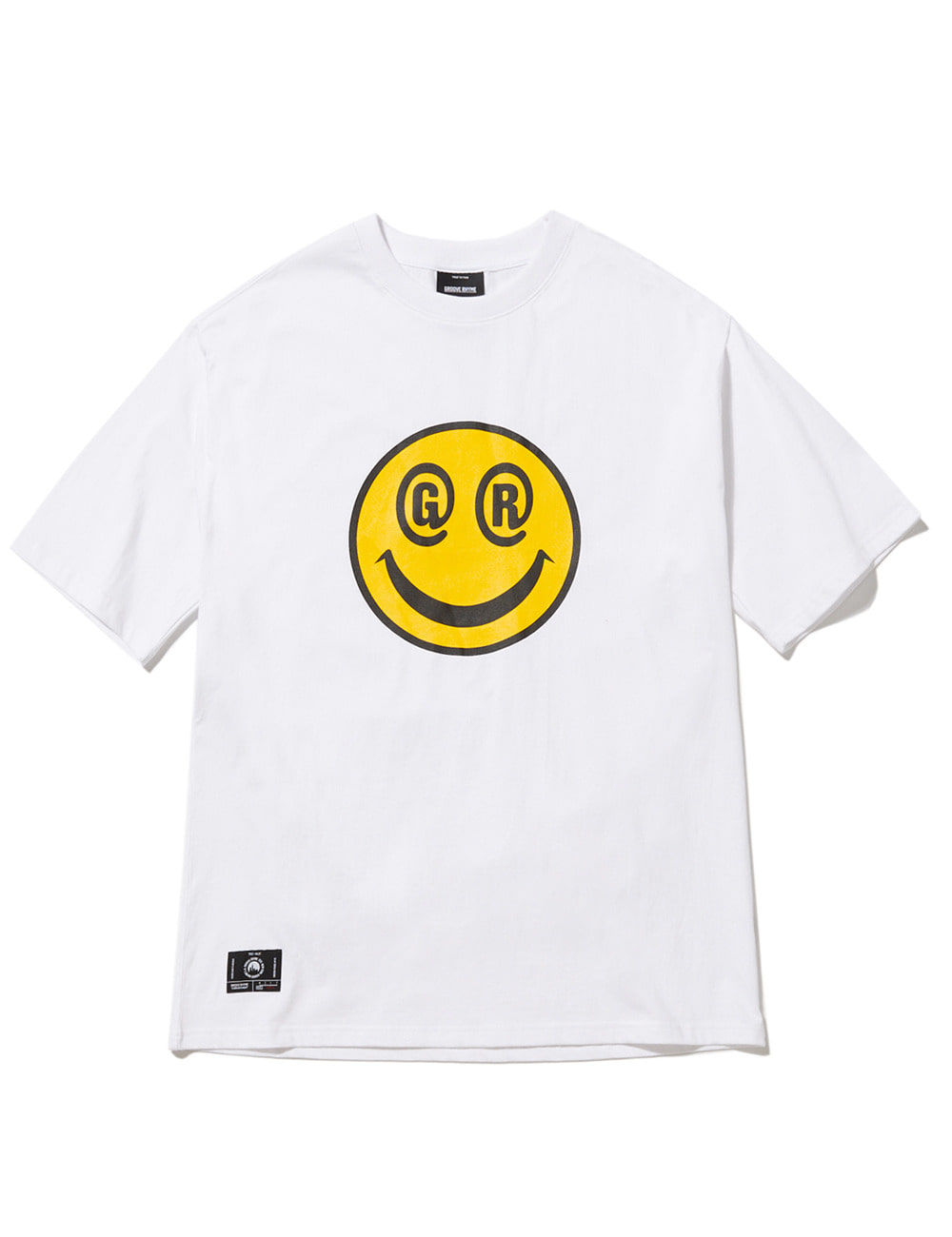 BIG SMILE LOGO OVER FIT T-SHIRTS (WHITE) [GTS051H23WH]